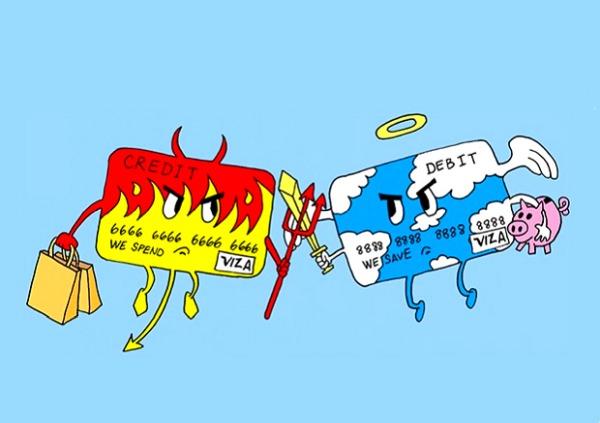 В чем разница дебетовой карты и лимитированной кредитки?