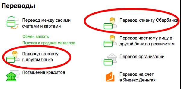 перевод через сбербанк онлайн